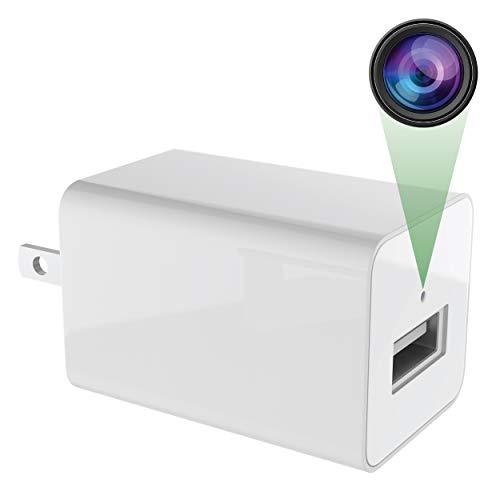 Spy Camera Charger – 1080p HD USB Camera – Easy to Install – Spy Camera Wireless Hidden – Sensitive Motion Detector – Secret Design – No WiFi Nanny Camera – Loop Recording and 24/7 Recording