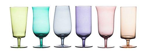 BITOSSI Diseguale Set 6 Bicchieri Birra, Multicolore, 7 cm