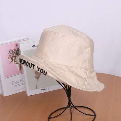 wtnhz Artículos de Moda Versión Coreana del Sombrero de Pescador Salvaje Marea Protector Solar japonés Letras de Primavera y otoño Sombra roja para Hombres y mujeresRegalo de Vacaciones