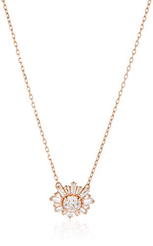 Swarovski Women's Sunshine Necklace, with Sparkling Sun Design with Crystals, Rose-gold Tone Plated, from the Swarovski Sunshine Collection