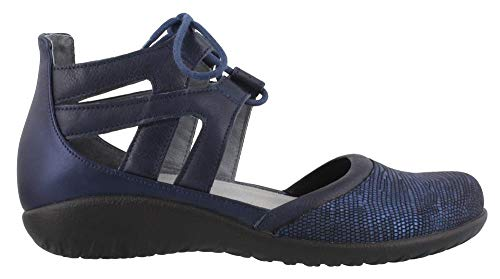 NAOT Women's Lace-up Kata Shoe Navy Lthr Combo 9 M US