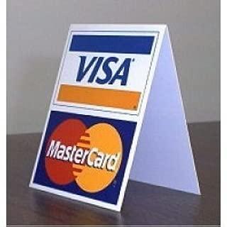 VISA/MASTERCARD TABLE TENT DISPLAY (6 INCHES)