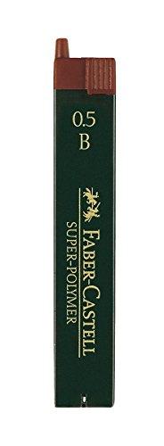 Faber-Castell 120501 - Feinmine Super Polymer, Härtegrad B, 0.5 mm, 12 Stück