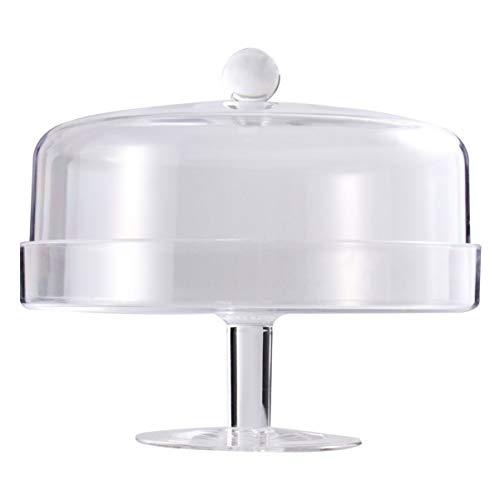 Hemoton - Campana para tartas (cristal), acrílico, Transparente 2, 24.5X24.5CM