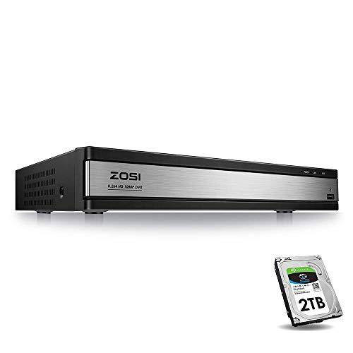 ZOSI 16-Channel Hybrid 4-in-1 AHD-TVI 720 H.264 Surveillance DVR Recorder...