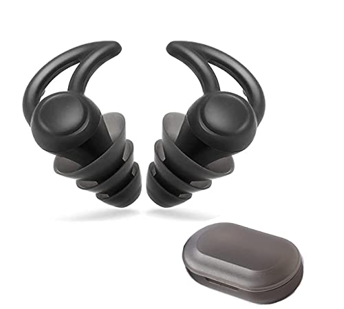 Noise Reduction Earplugs, Sleeping Ear Plugs Reusable, Super Soft High Fidelity Hearing Protection for Concerts Quiet Earplugs, Ergonomic is Closer to The Ear, Obvious Noise Reduction (31dB )Black