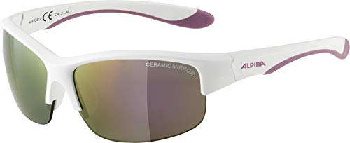 Alpina FLEXXY YOUTH HR Sportbrille, Kinder, One size, White Matt-purple