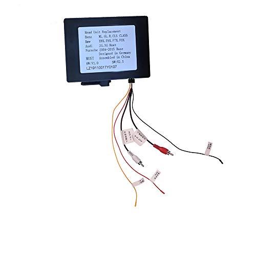 XISEDO Adaptateur de Décodeur de Fibre Optique, Remplacement pour la Voiture avec Adaptateur de Connecteur de Fibre Optique pour Benz ML/GL/R Class W164/ W251