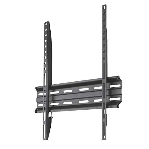 Hama TV-Wandhalterung Ultraslim (Wandhalter Fernseher für 32-65 Zoll, Fixe Halterung VESA bis 400x400, Max. 35 kg, inkl. Fischer Dübel) Schwarz