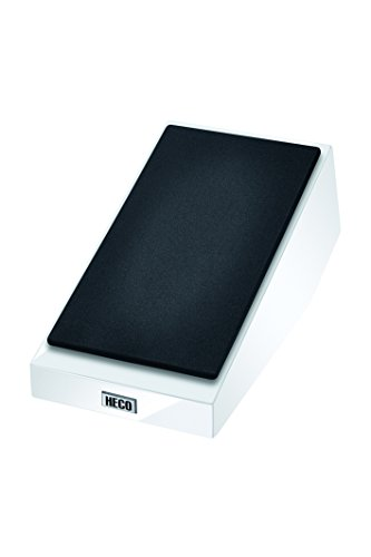 HECO AM 200 | 1 Paar Geschlossener 2-Wege Atmos-Zusatzlautsprecher | Dolby Atmos-zertifiziertes Top-Firing-Modul, Farbe:Weiß