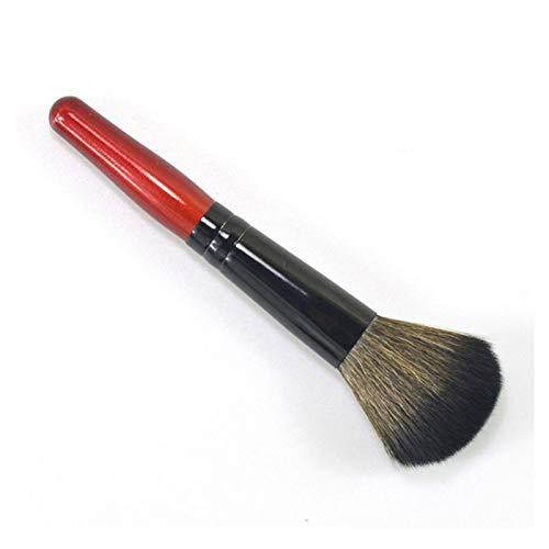 Pinceaux de maquillage avec manche en bois pour fond de teint, visage, blush, poudre, contour, outil cosmétique – Rouge vin