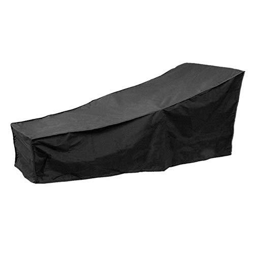 Huolirong Funda Protectora para Muebles Al Aire Libre Cubierta De Patio Reclinable Impermeable Funda Protectora Silla, Negro Muebles De Jardín Funda