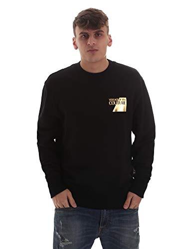 Versace Herren Sweatshirt Schwarz B7GVB7TV 30318, Schwarz M
