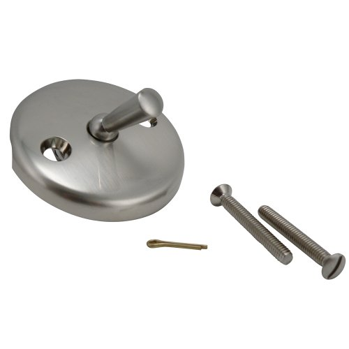 Plumb Pak PP826-1BN 2-Hole Trip Lever Style Tub Face Plate with Screw, for Use with Bath Drain, Brushed Nickel, 72 Piece