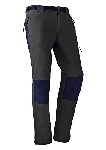 IZAS Escort Pantaloni Idrorepellenti di Montagna, Uomo, Caki/Nero, S