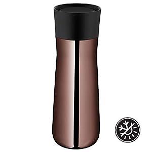 WMF Impulse Isolierbecher 350 ml, Thermobecher mit Automatikverschluss, 360°-Trinköffnung, hält Getränke 8h heiß/12h kalt, vintage kupfer