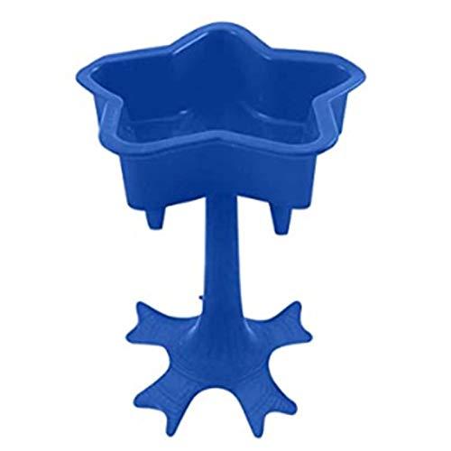 Rincr Soporte dispensador de Vidrio de 5 chupitos Juegos de Beber Gafas de chupito para Fiesta (Blue)