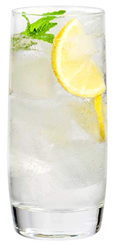Large Clear Glass Highball Water Beverage Glasses 19oz  Set of 6
