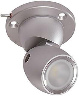 Lumitec 照明 111909 GAI2 任务/可定位 LED 灯,重型底座,开关,暖白色调光,拉丝外壳