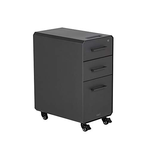 Vari slim file cabinet for office storage with three drawers - compact...