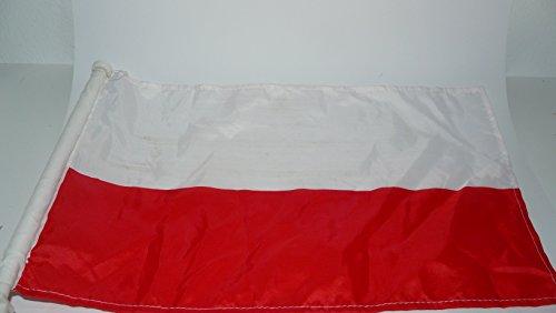 Relaxdays drapeau avec inscription pologne 30 x 45 cm