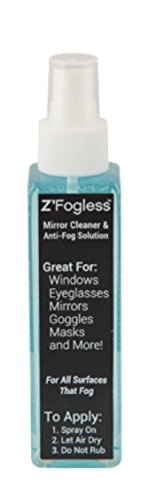 Zadro Z'Fogless Free Mirror and Glasses Solution for Windows, Eyeglasses, Lens, Goggles and Masks Anti-Fog Spray