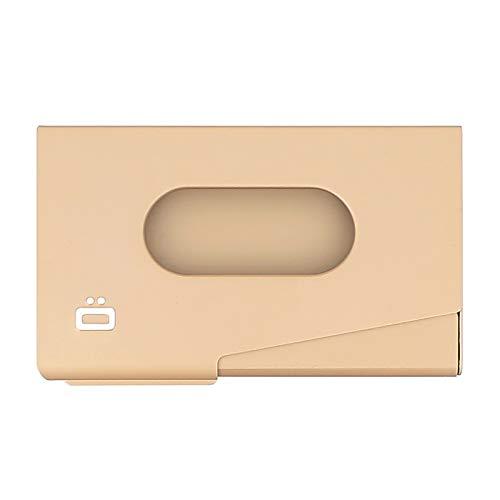 Ögon Smart Wallets - One Touch - Visitenkartenhalter aus Aluminium - Kapazität 15 Visitenkarten (Rose Gold)