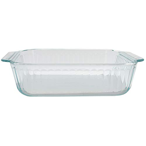 Pyrex 222-SC Sculpted 8in Clear Glass Baking Dish