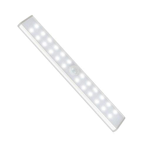 SOONHUA Sensor de movimiento LED noche luz USB recargable cocina debajo de gabinete armario luz