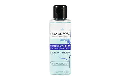 Bella Aurora Líquido Desmaquillante de Ojos, Reduce Bolsas y Ojeras y Fortalece Pestañas, con Colágeno y B5, 100 ml
