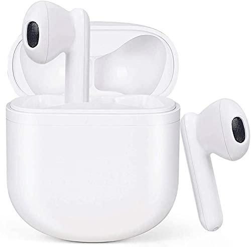 Cuffie Bluetooth 5.1, Auricolari Bluetooth con Microfono Incorporato, Stereo HiFi Semi-In-Ear Cuffie Senza Fili con Custodia di Ricarica USB-C Portatile, Controllo Touch IPX5, per iPhone Samsung