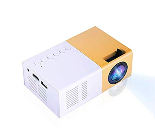 Bewinner Mini LED Beamer, Mini Heimkino Projektor Tragbarer LED Projektor HD Unterstützung 1080P HDMI VGA AV USB Multimedia Player für Erholung im Freien,Unterhaltungsorte