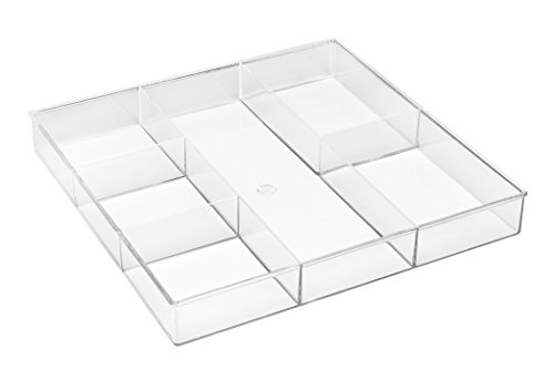 Whitmor 6 Fach transparent Schublade Organizer, Mehrfarbig, 6-Section