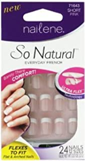 Nailene So Natural Ultra Flex Pink French Short Nails (Pack of 2)