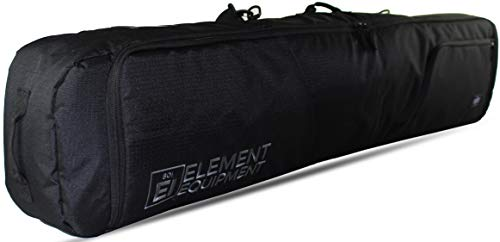Element Equipment Deluxe Padded Snowboard Bag - Premium High End Travel Bag 165 Black NanoWeave Ripstop