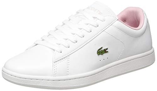 Lacoste Damen Carnaby EVO 0120 5 SFA Sneaker, Weiß Wht Lt Pnk, 42 EU