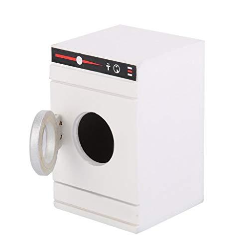 1:12 Accesorios En Miniatura De La Casa De Muñecas, Modelo De Electrodomésticos del Hogar Mini Lavadora 7.7 * 5 * 5 Cm (Blanco)