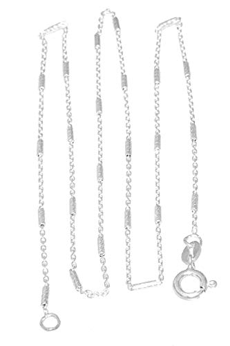 Zilveren ketting 925 massief staafjesketting dames fijne halsketting massief echt zilver hobra-goud