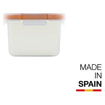 Valira Porta alimentos - Contenedor hermético de 0,4 L hecho en España, color blanco: Amazon.es: Hogar