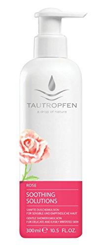 Tautropfen Rose Solutions apaisantes, émulsion douce de douche pour peau délicate et facilement irritée, 300 millilitres