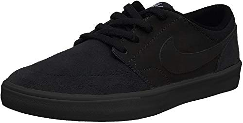 Nike Herren Skateboardschuh SB Solarsoft Portmore II Sneakers, Schwarz (Black/Black 001), 43 EU