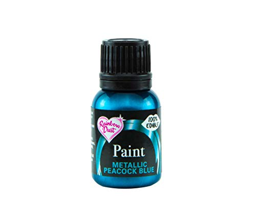 Rainbow Dust 12824 Metallic-Lebensmittelfarbe Midnight Blue 25ml