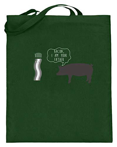 Bacon I Am Your Father - Bacon Ich Bin je vader - varken spreekt om te ham - jute zak (met lange hengsels)