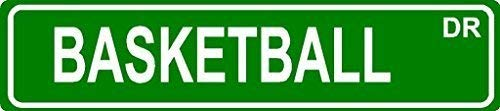 Metall Straßenschild Dekoratives Blechschild Basketball Aluminium Metall Straßenschild Zaunschild Geschenk 40,6 x 10,2 cm