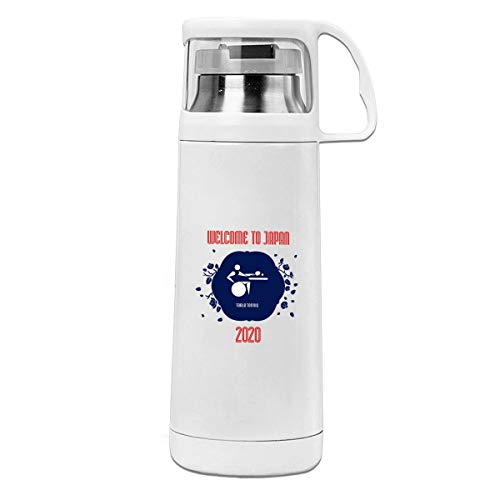 Tokyo Olympic Air Pistol Slow Shot Best Stainless Steel Thermos Bottle - Hot Coffee Or Cold Tea + Drink Cup Top - Perfect For Office, Camping And Outdoors