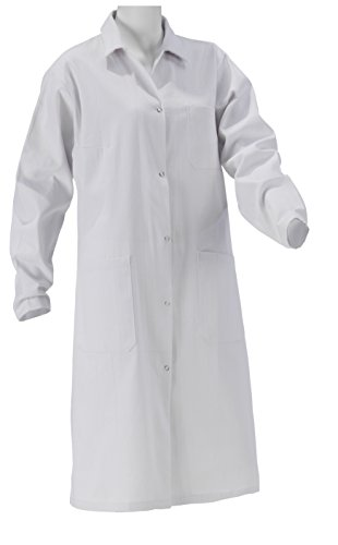 KOKOTT Laborkittel Damen und Herren, Medizin, weiß, 100% Baumwolle mit Druckknöpfen, geeignet für Studium/Praktika/Arbeit, aus eigener Produktion (36, Damen)