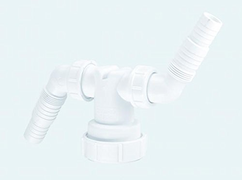 McAlpine V33WM Doppel-Anschluss–weiß