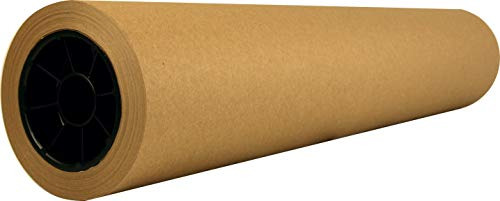 """Recycled Natural Brown Kraft Paper Roll │ 30"""" x 200' │Made in USA from 100% Recycled Materials │Perfect for Any Use – Wrapping, Shipping, Table Runner, Floor Covering, Banners and Signs (30x200)"""