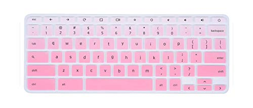 Laptop Keyboard Cover Protector skin for 2018/2017 Newest Acer R11 11.6 / Chromebook 11 CB3-131 CB3-132 / R 11 CB5-132T-fadepink-