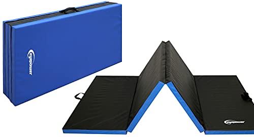 EYEPOWER 240x120 XXL Turnmatte für Zuhause - Klappbar - 5 cm Gymnastikmatte - Kinder Weichbodenmatte